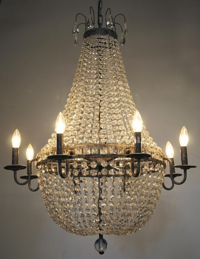 Popular Vintage Chandeliers Pertaining To Chandelier ~ Chandeliers Design : Awesome Lg Crystal Chandeliers (View 11 of 20)