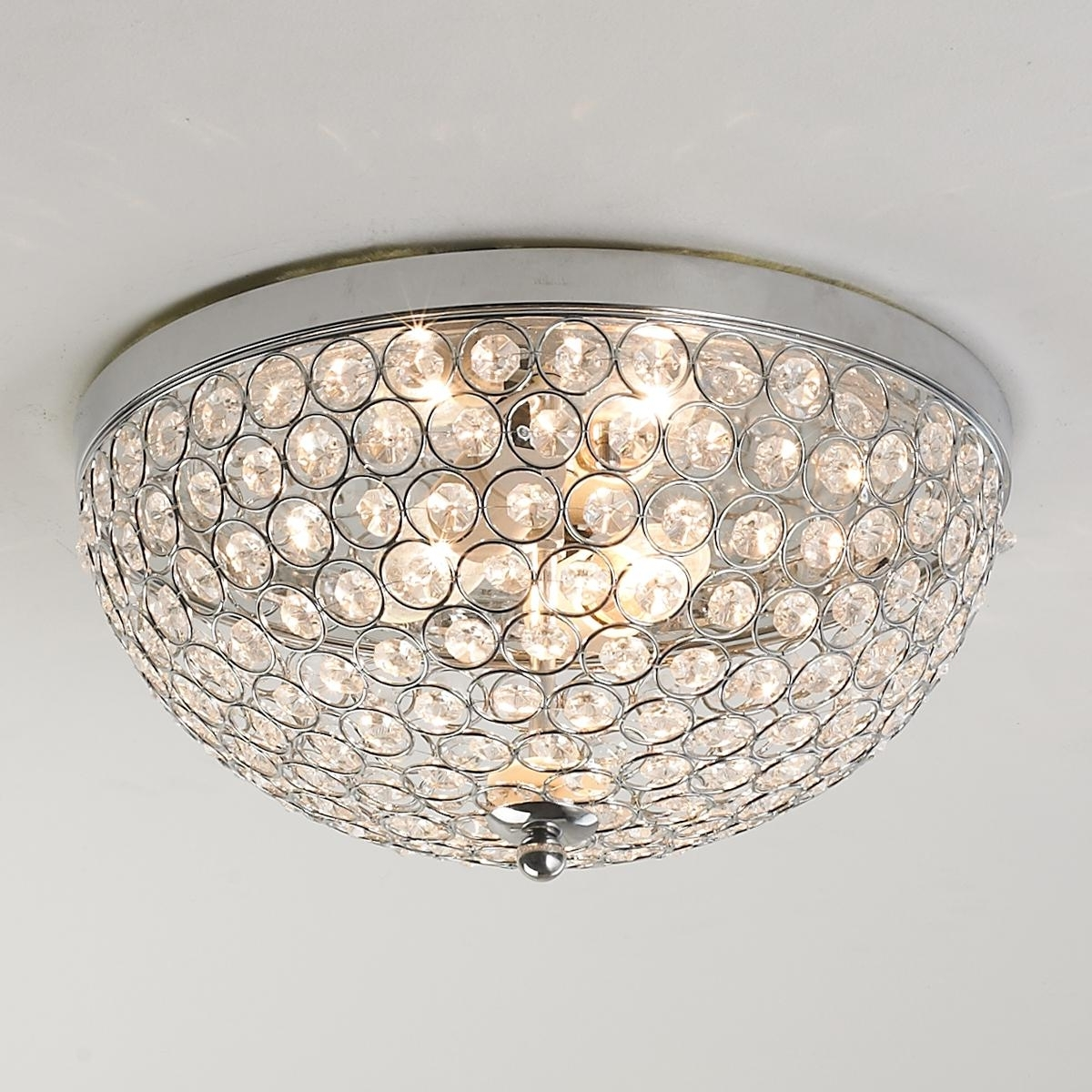 Popular Wall Mount Crystal Chandeliers Pertaining To Crystal Jewel Ceiling Light (View 18 of 20)