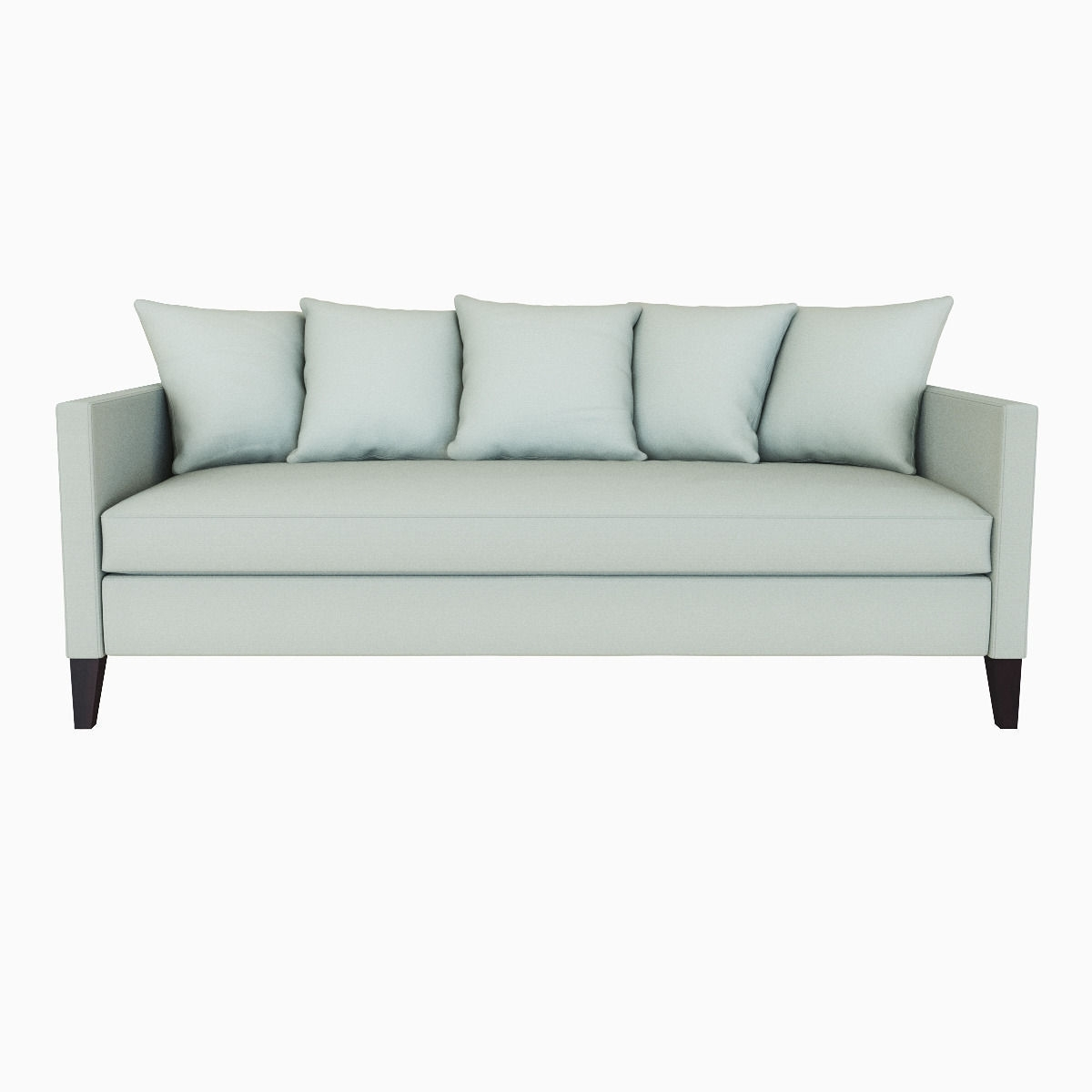 Popular West Elm Dunham Down Filled Sofa – Toss Back 3D Model Max Obj Fbx Mtl Within Down Filled Sofas (View 14 of 20)