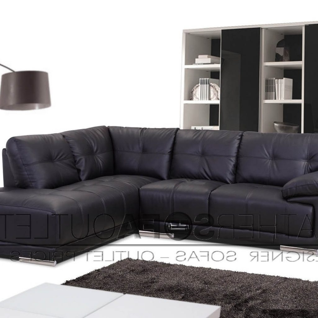 Popular White Leather Corner Sofas Throughout Stylish Cheap Black Leather Corner Sofas – Buildsimplehome (View 8 of 20)