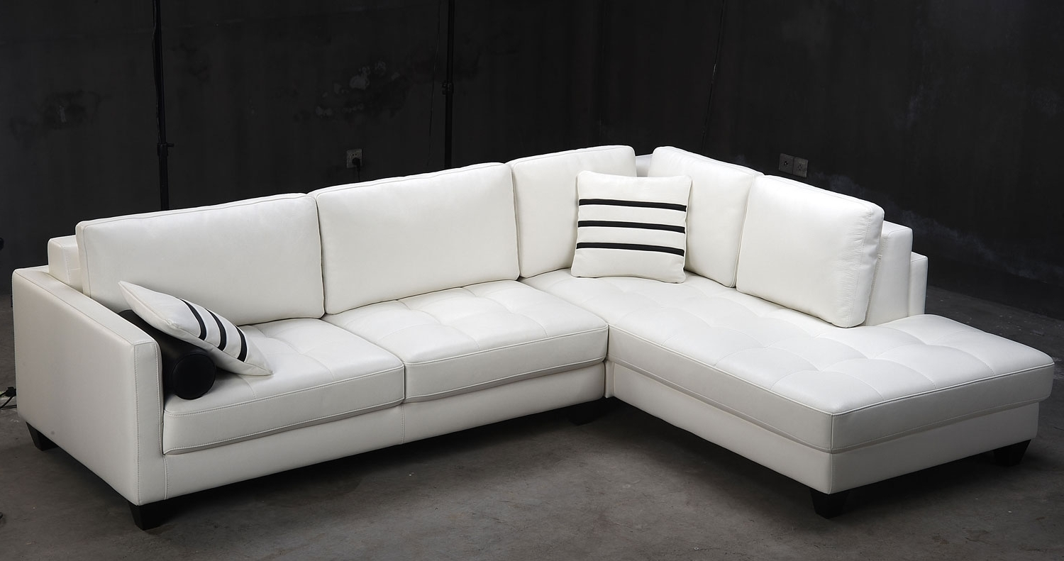Popular White Modern Sectional Leather Sofa – Video And Photos With Regard To White Modern Sofas (View 19 of 20)