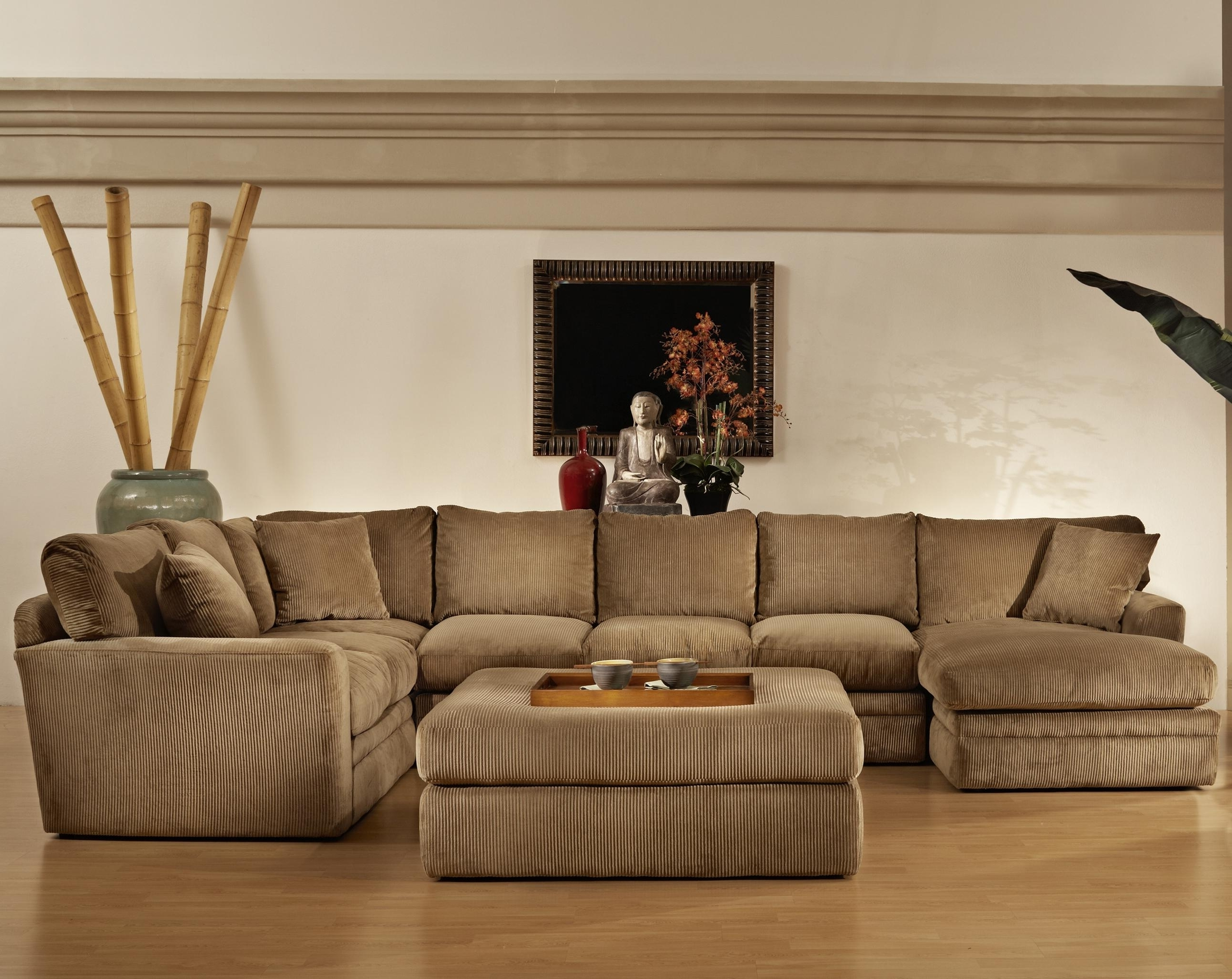 Popular Wide Seat Sectional Sofas In Transitional Style Extra Large Sectional Sofas With Chaise Baker (View 13 of 20)