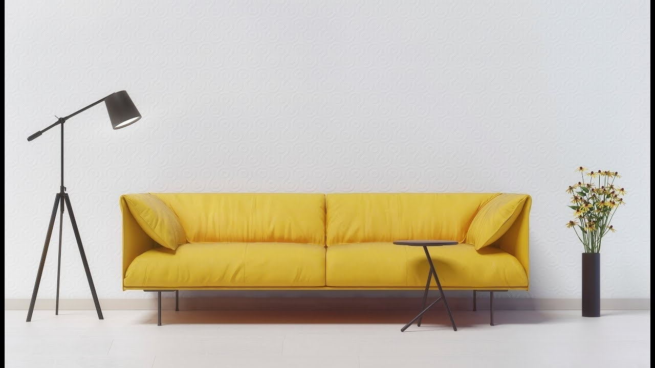 Popular Yellow Sofa – A Stylish Accent In The Interior (View 10 of 20)