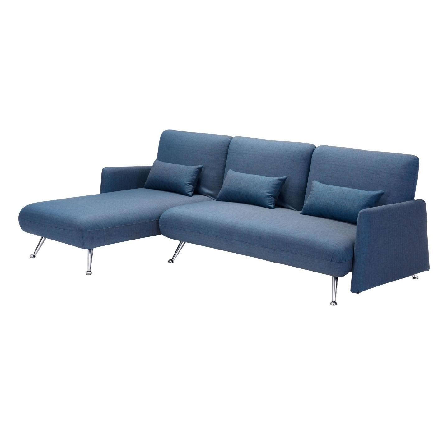 Popular Zuo Modern Bizard Sleeper Sectional Sofa (Cowboy Blue) – Disc Intended For Sectional Sofas In Canada (View 14 of 20)