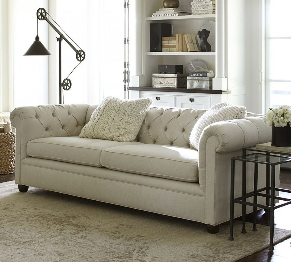 Pottery Barn Sectional Sofas Throughout Well Known Leather Sleeper Sofa Pottery Barn (View 7 of 20)