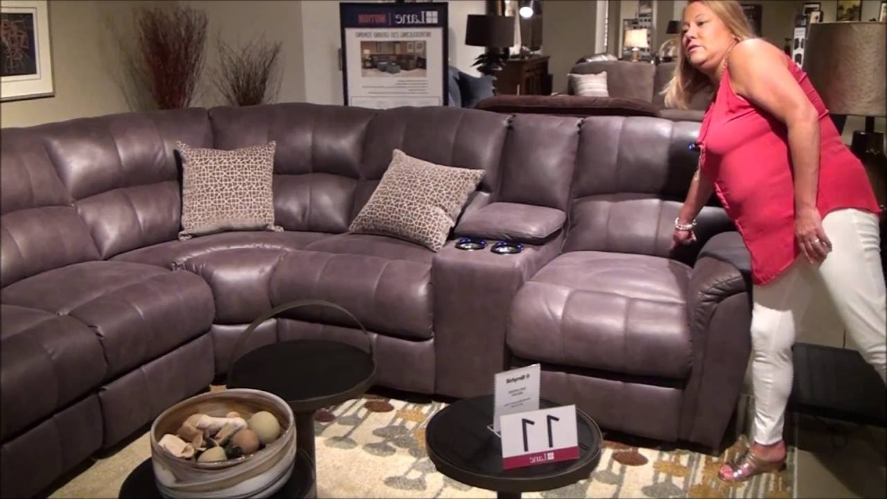 Power Reclining Grand Torino Sectionallane Furniture – Youtube Intended For Most Up To Date Lane Furniture Sofas (View 18 of 20)