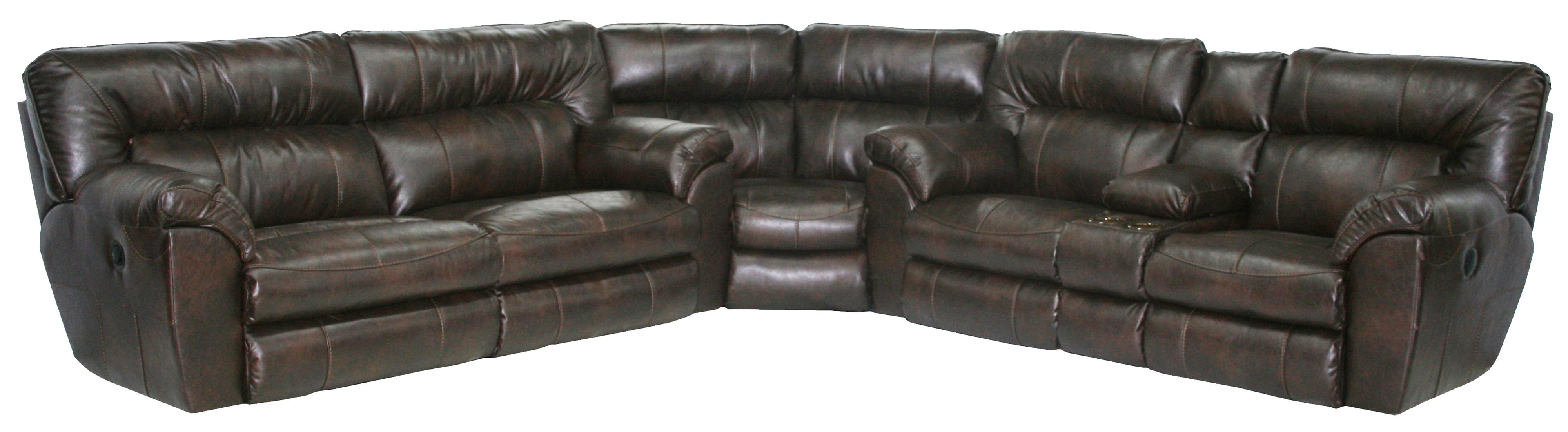 Power Reclining Sectional Sofa With Left Consolecatnapper Throughout Well Liked Sectional Sofas With Consoles (View 7 of 20)