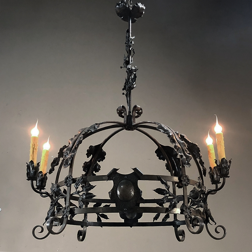 Preferred Antique Italian Wrought Iron Chandelier – Inessa Stewart's Antiques Throughout Wrought Iron Chandelier (View 9 of 20)
