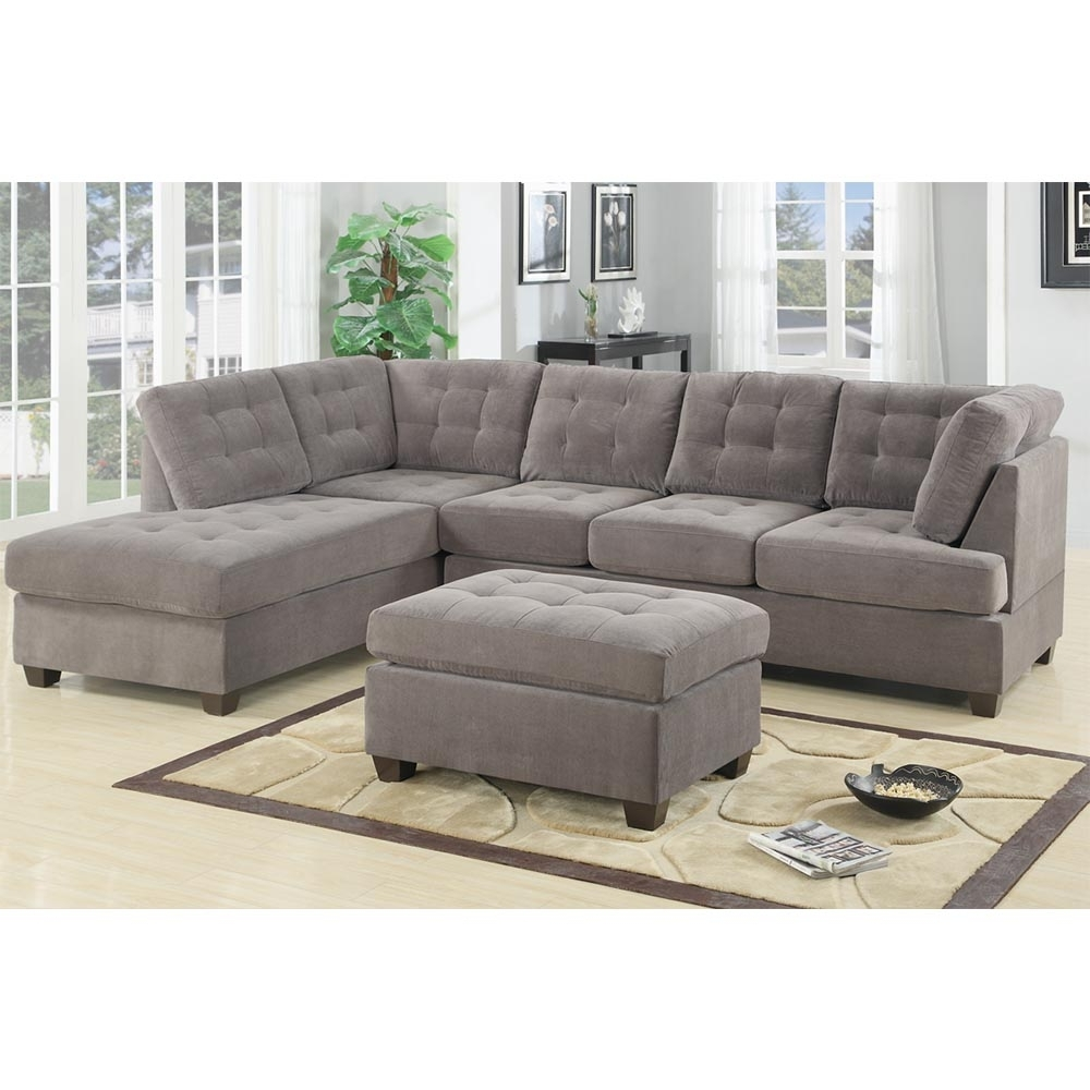 Preferred Austin Sectional Sofas Inside Bobkona Austin 2 Piece Reversible Sectional Sofa Charcoal (View 13 of 20)