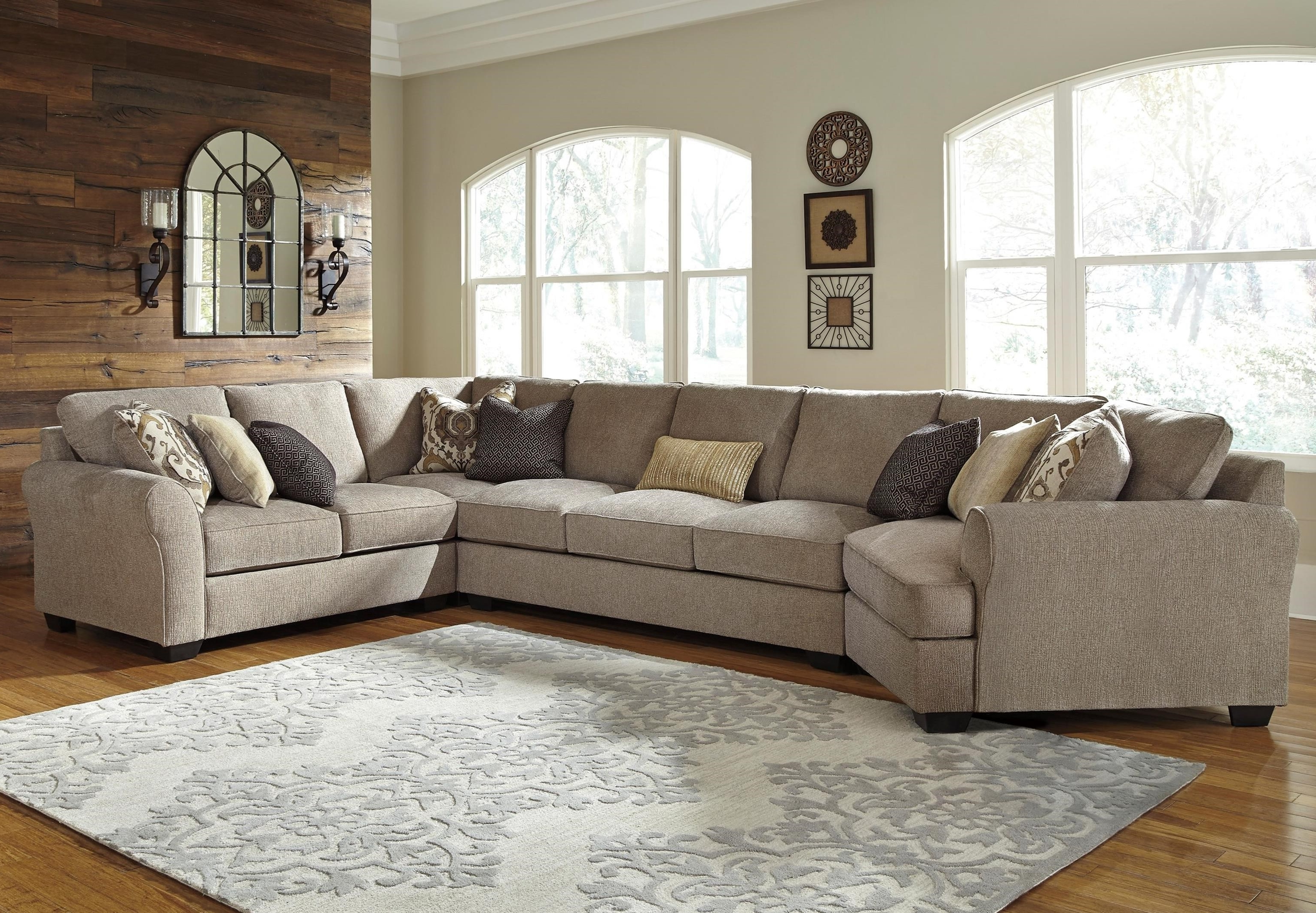 Preferred Benchcraft Pantomine 4 Piece Sectional With Left Cuddler & Armless In Sectional Sofas With Cuddler (View 11 of 20)