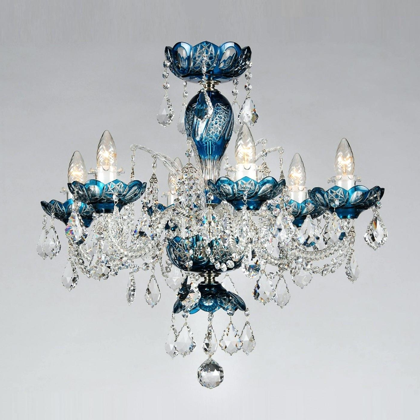 Preferred Chandelier : Turquoise Chandelier Crystals Classic Lighting Light Within Turquoise Chandelier Crystals (View 15 of 20)