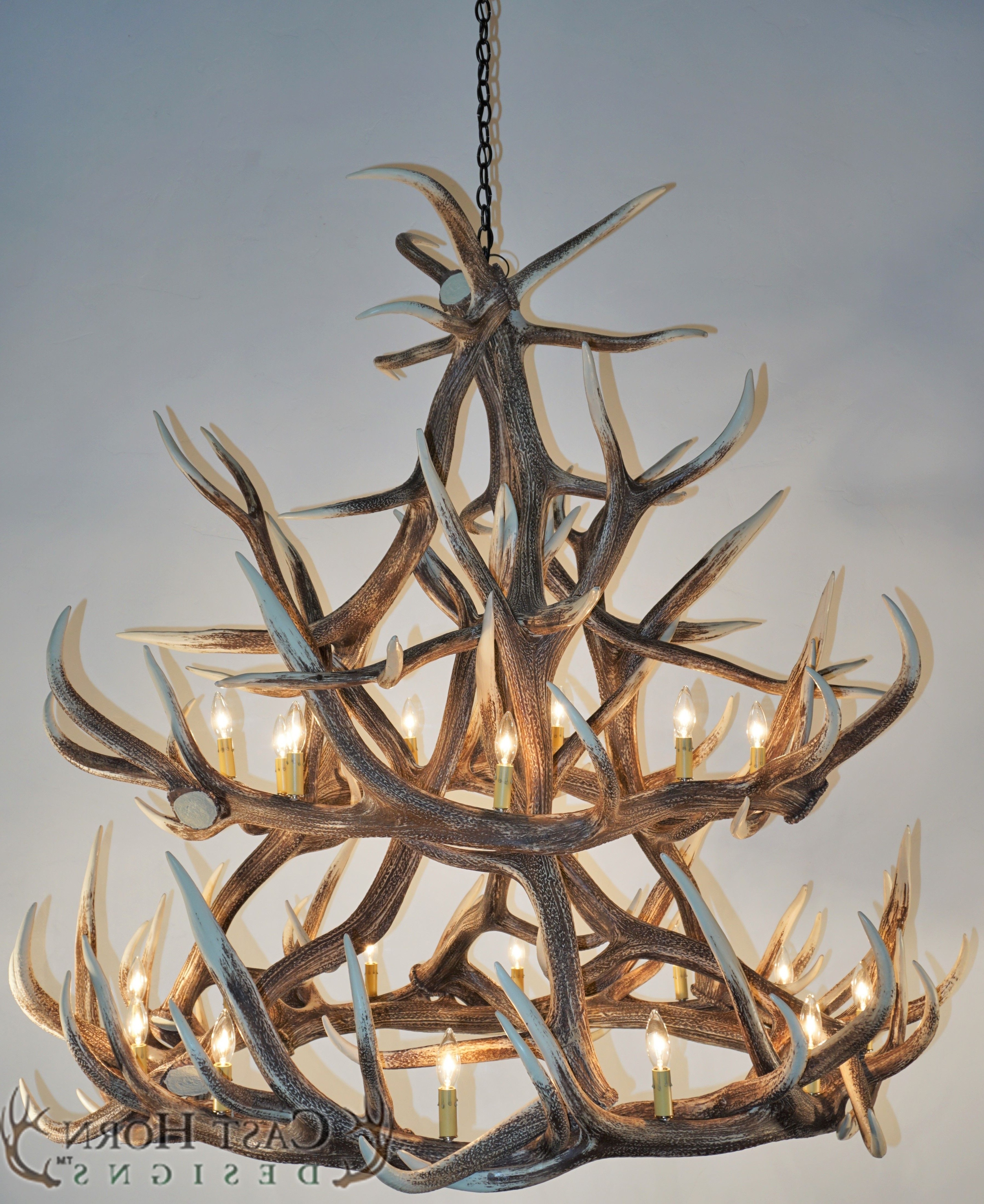 Preferred Chandeliers : White Antler Chandelier Inspirational Lighting Elk With Regard To White Antler Chandelier (View 9 of 20)