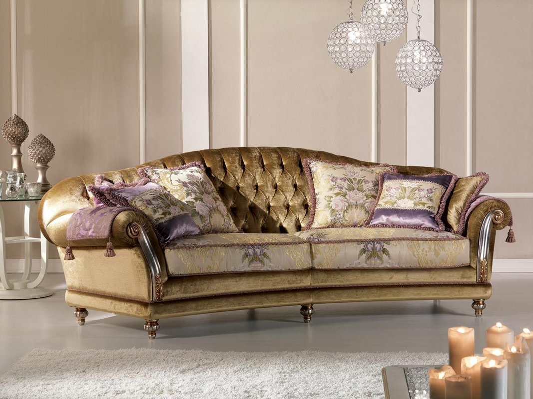 Preferred Classic Sofas Throughout Classic Sofa / Velvet / 2 Seater – Etoile Ring – Pigoli (View 16 of 20)