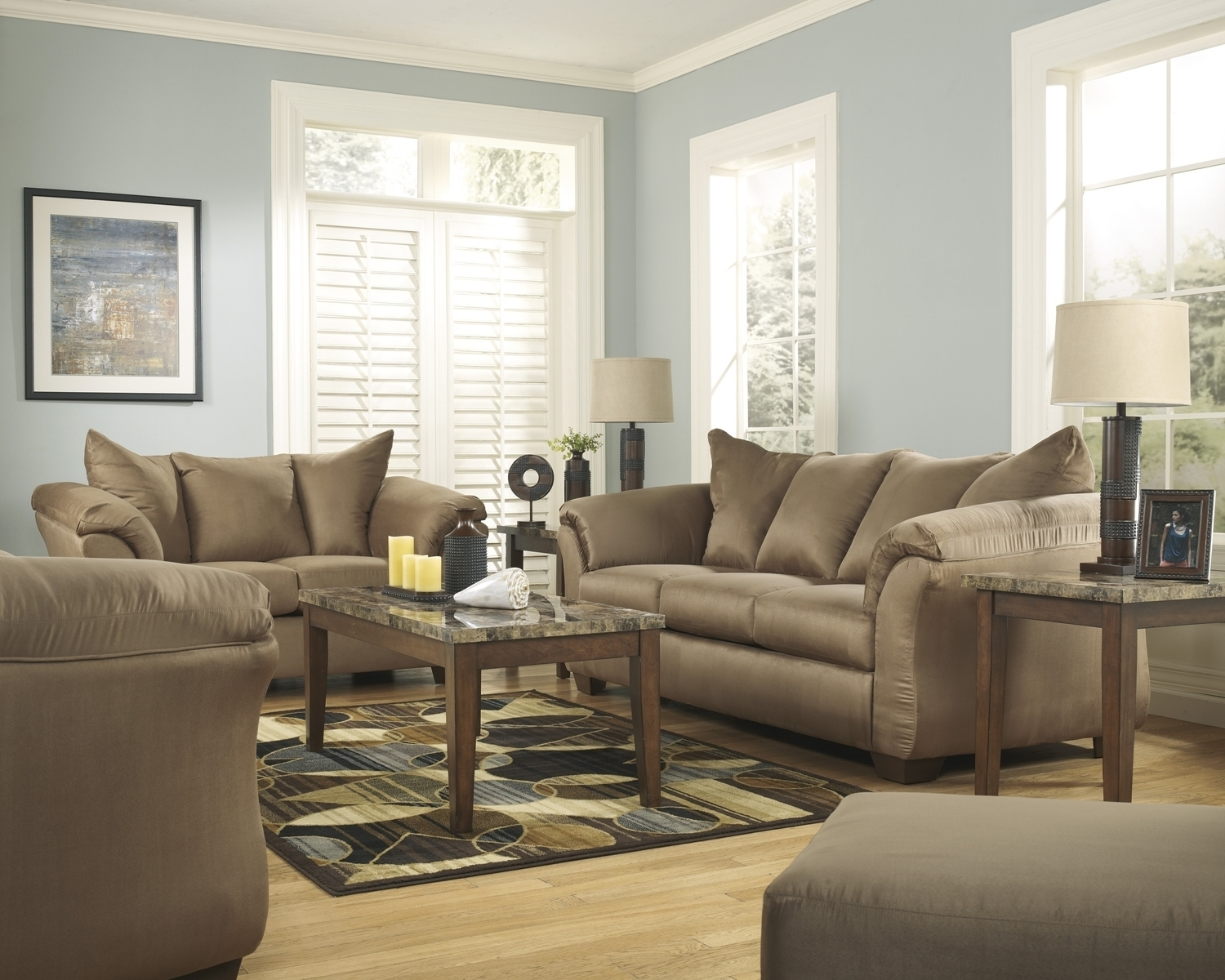 Preferred Color Fabric Sofaashley Throughout Fabric Sofas (View 18 of 20)