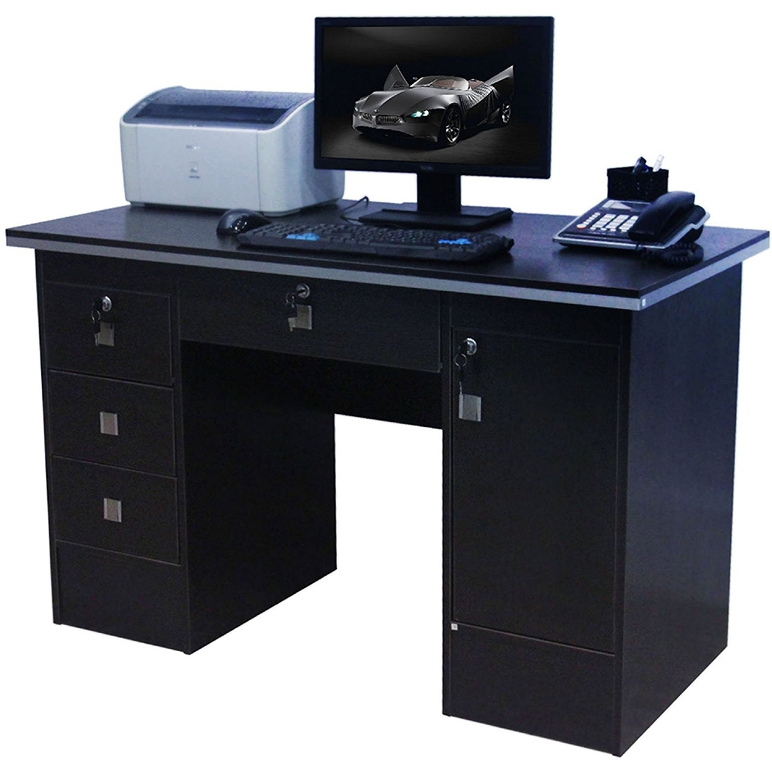 Preferred Computer Desk Black – Eulanguages Regarding Black Computer Desks (View 16 of 20)