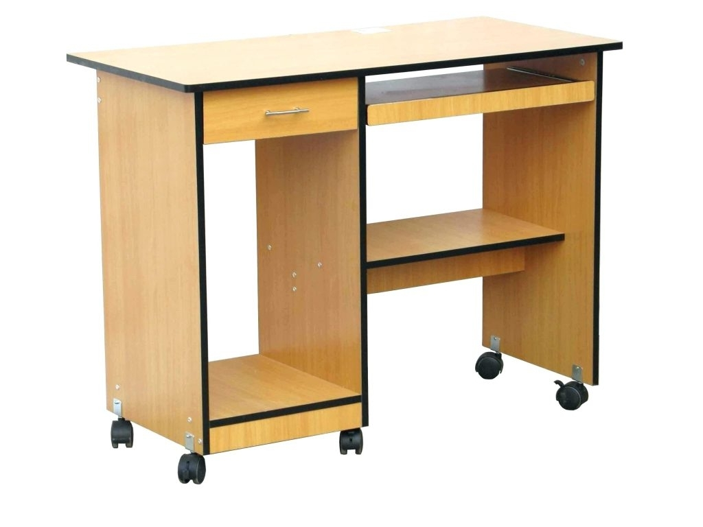 Preferred Computer Desks With Wheels Pertaining To Sampler Small Desk On Wheels Side Table Computer Office Furniture (View 7 of 20)