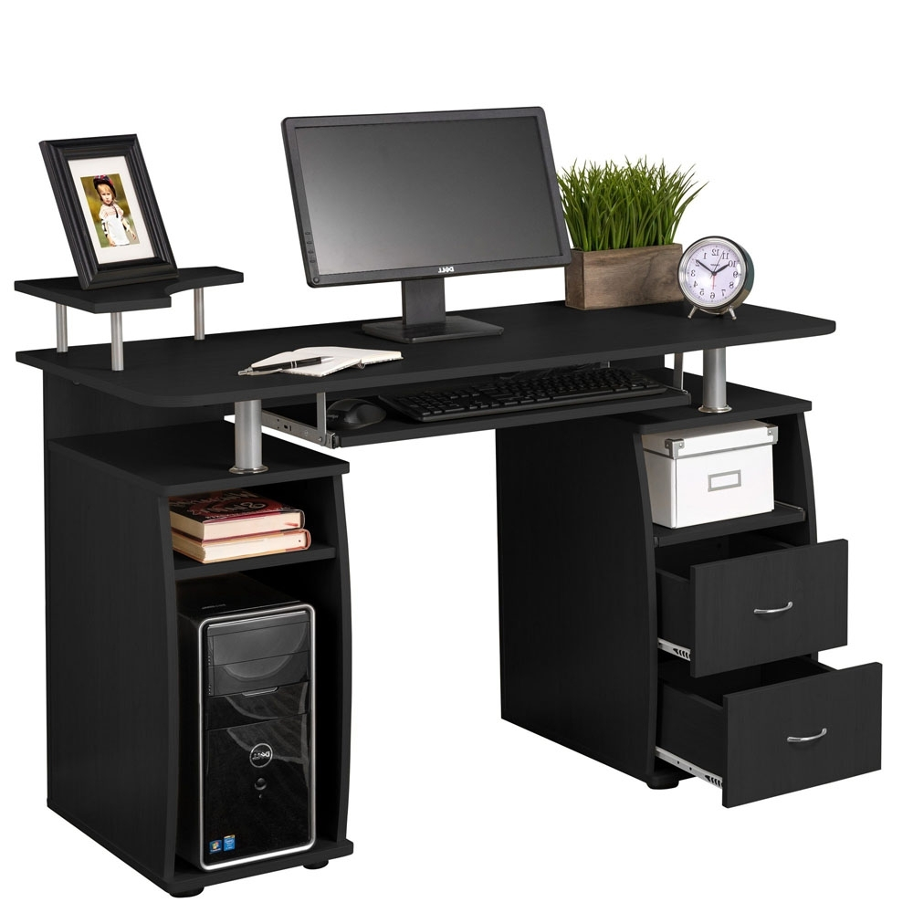 Preferred Computer Pc Desk Work Station Office Home Raised Monitor & Printer For Computer Desks With Printer Shelf (View 16 of 20)