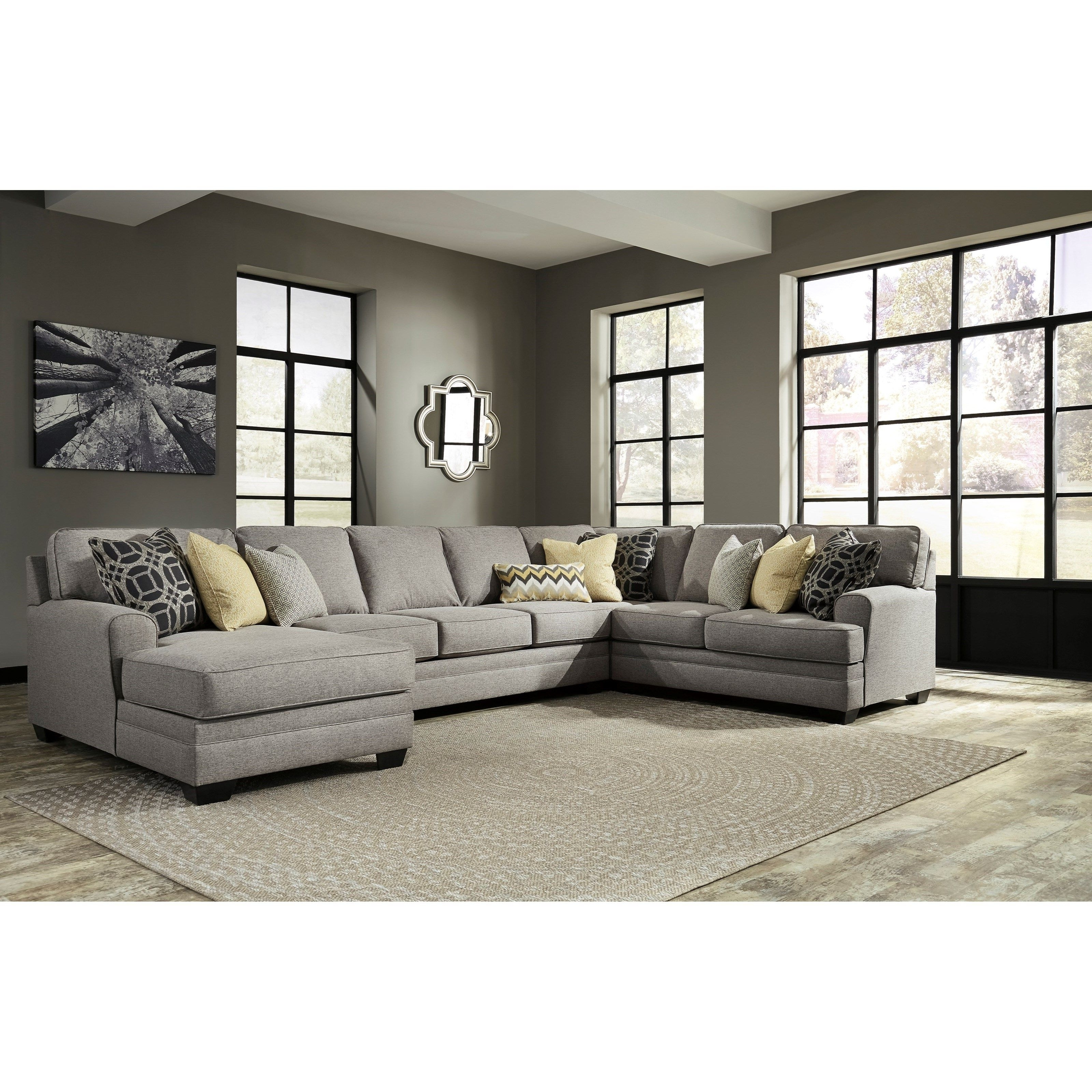 Preferred Contemporary 4 Piece Sectional With Chaise & Armless Sofa (View 10 of 20)