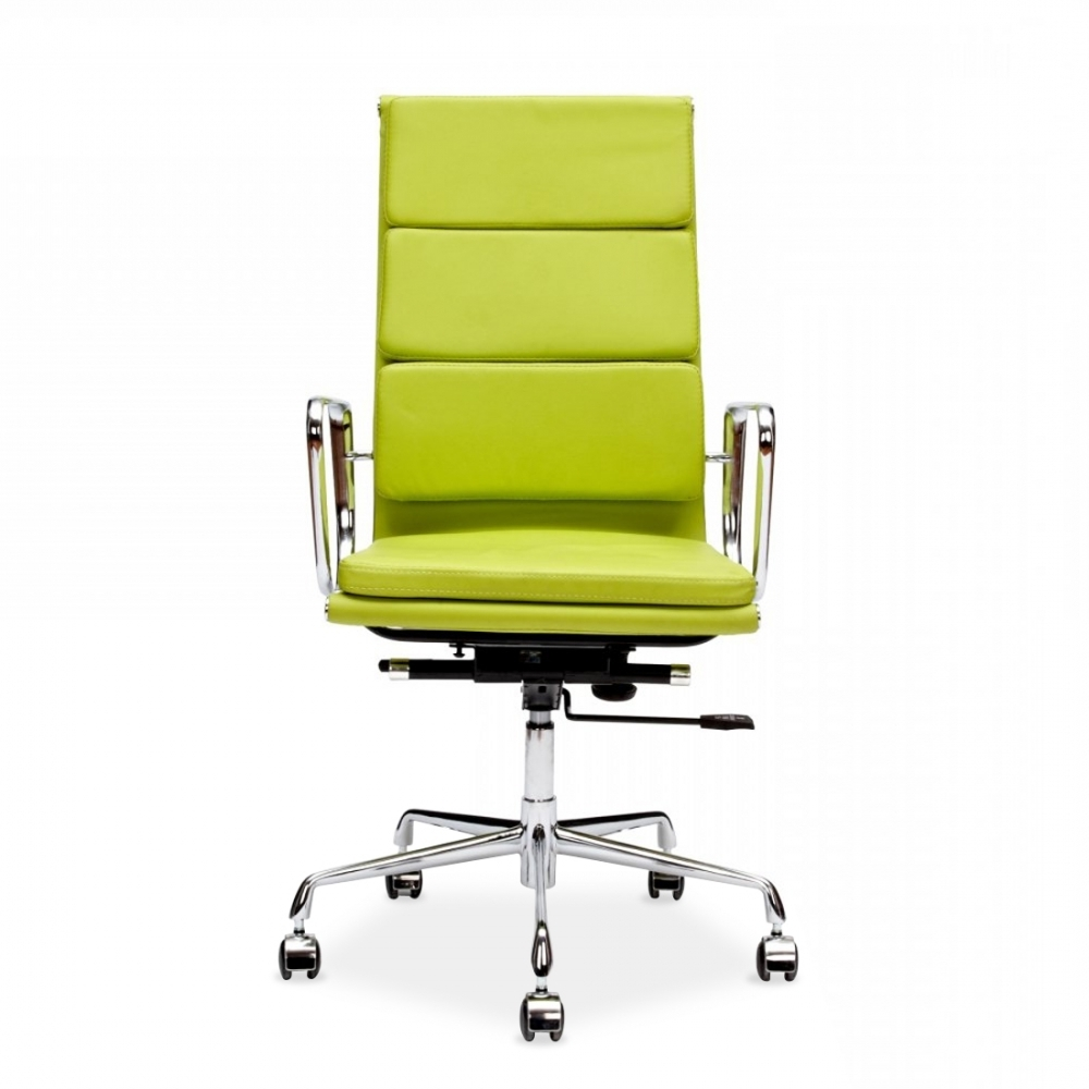 Preferred Eames Style Apple Green Soft Pad Executive Office Chair (View 17 of 20)