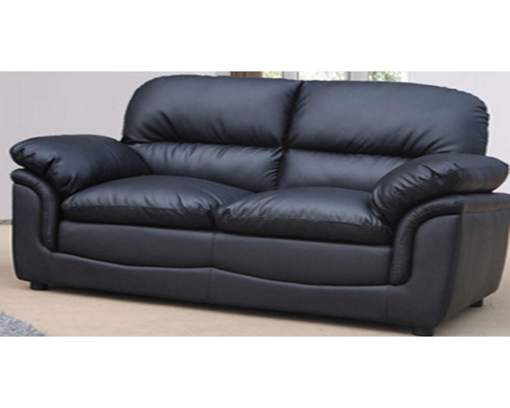 Preferred Emejing Black Leather Sofa 2 Seater Ideas – Liltigertoo Regarding Black 2 Seater Sofas (View 14 of 20)