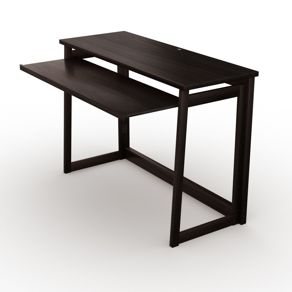 Preferred Espresso Computer Desks For Folding Computer Desk W/usb Port – Espresso 40″ (View 17 of 20)