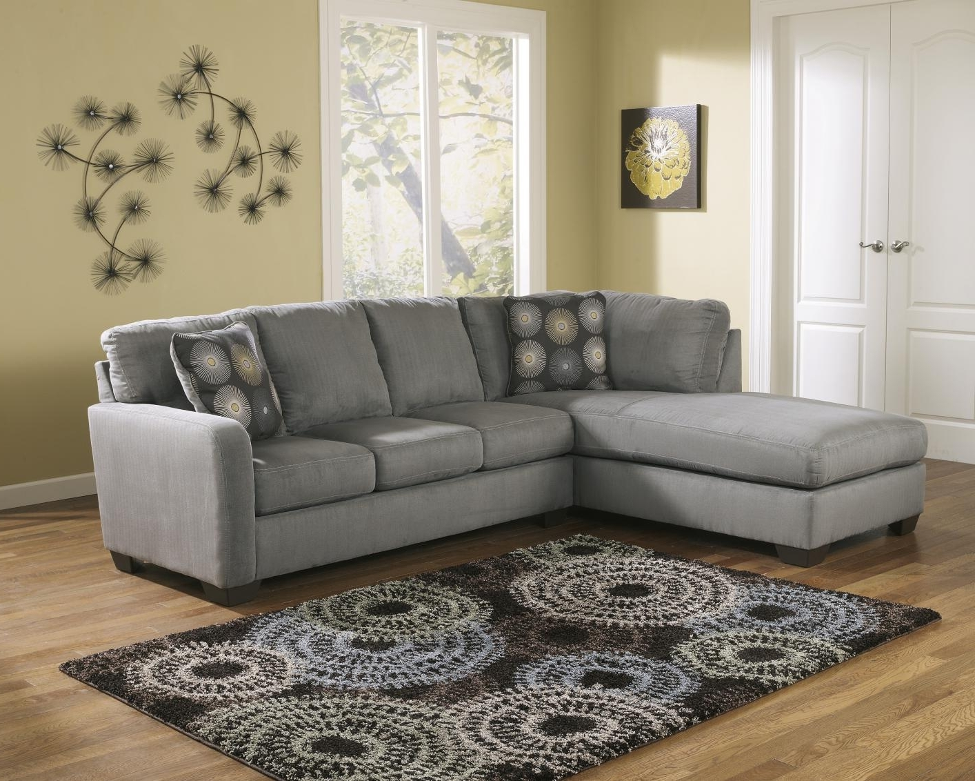 Preferred Fabric Sectional Sofas Intended For Grey Fabric Sectional Sofa – Steal A Sofa Furniture Outlet Los (View 2 of 20)