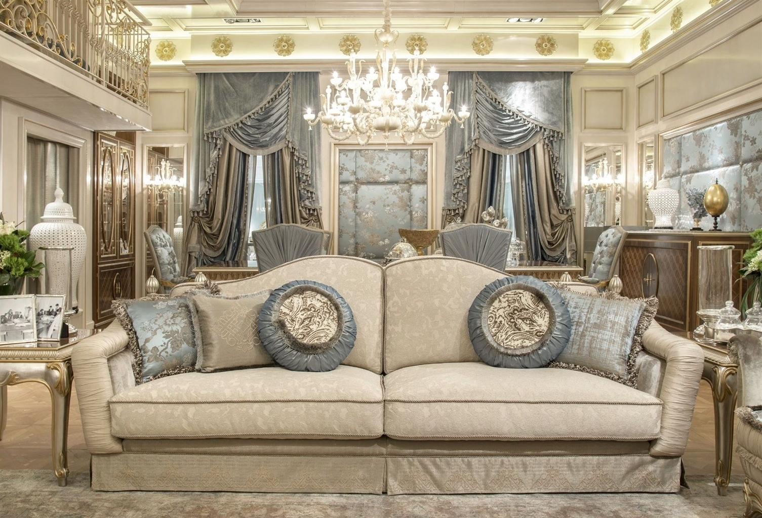 Preferred Fine Fabrics Highlight This Extraordinary Hand Made Luxury Sofa (View 3 of 20)