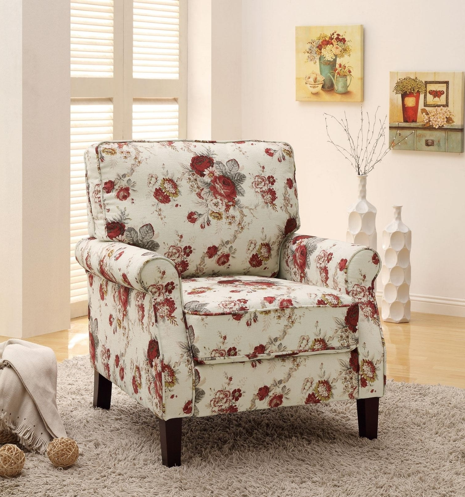 Preferred Floral Sofas And Chairs Inside The Application Of Enchanting Upholstered Chairs For Your Rooms (View 19 of 20)