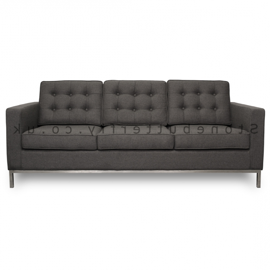 Preferred Florence Knoll 3 Seater Sofas Within 3 Seat Sofa, Florence Knoll Inspired – Grey Cashmere (View 15 of 20)