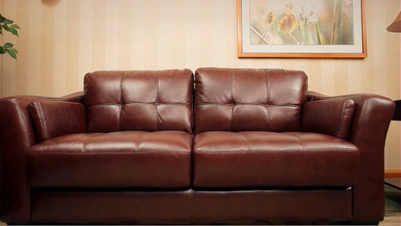 Preferred Florence Leather Sofas Throughout Florentine 3 Piece Top Grain Leather Set » Abbyson (View 18 of 20)