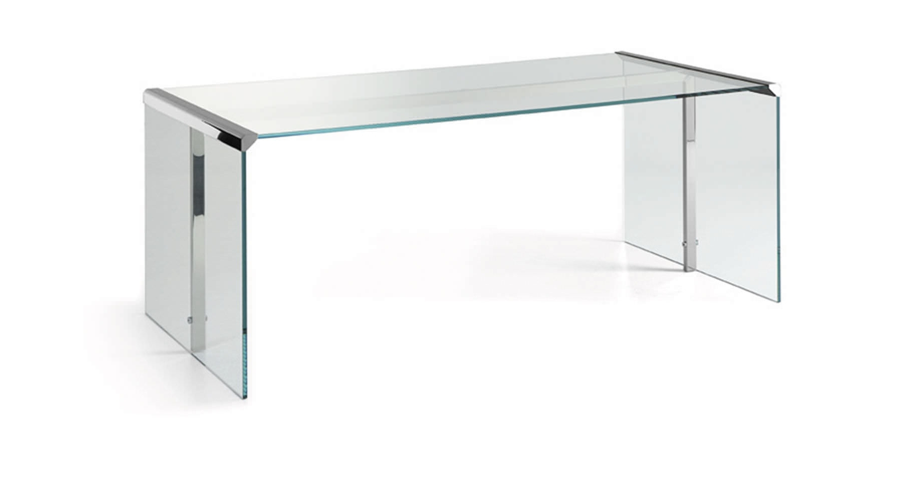 Preferred Glass Office Table Tribeca Tempered Top Computer Desk In Espresso Regarding Ikea Glass Computer Desks (View 10 of 20)