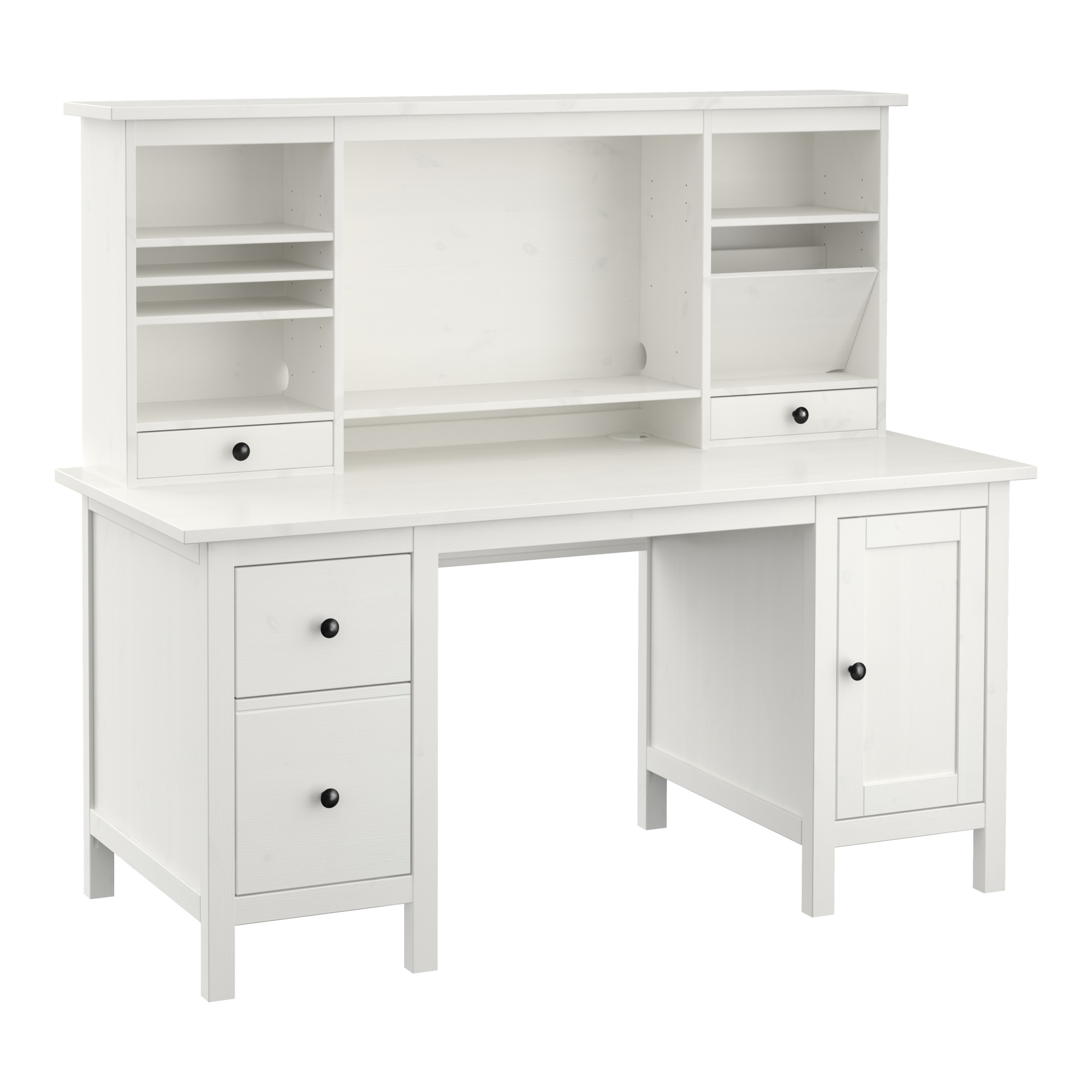Preferred Ikea Mn Computer Desks Pertaining To Hemnes Desk With Add On Unit – White Stain – Ikea (View 15 of 20)