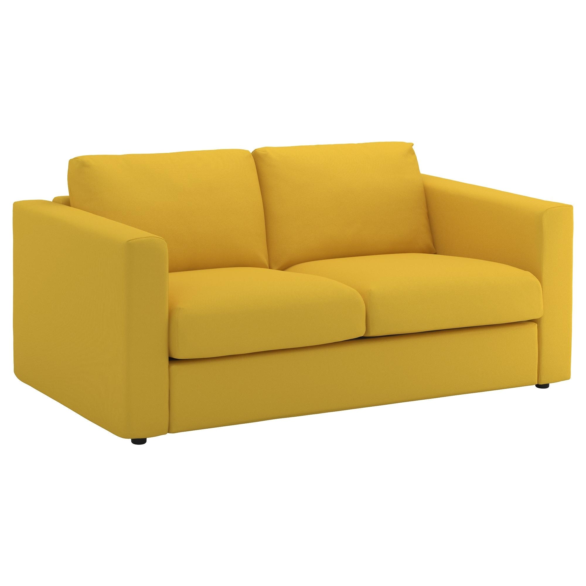 Preferred Ikea Two Seater Sofas Within Vimle 2 Seat Sofa Gräsbo Golden Yellow – Ikea (View 9 of 20)