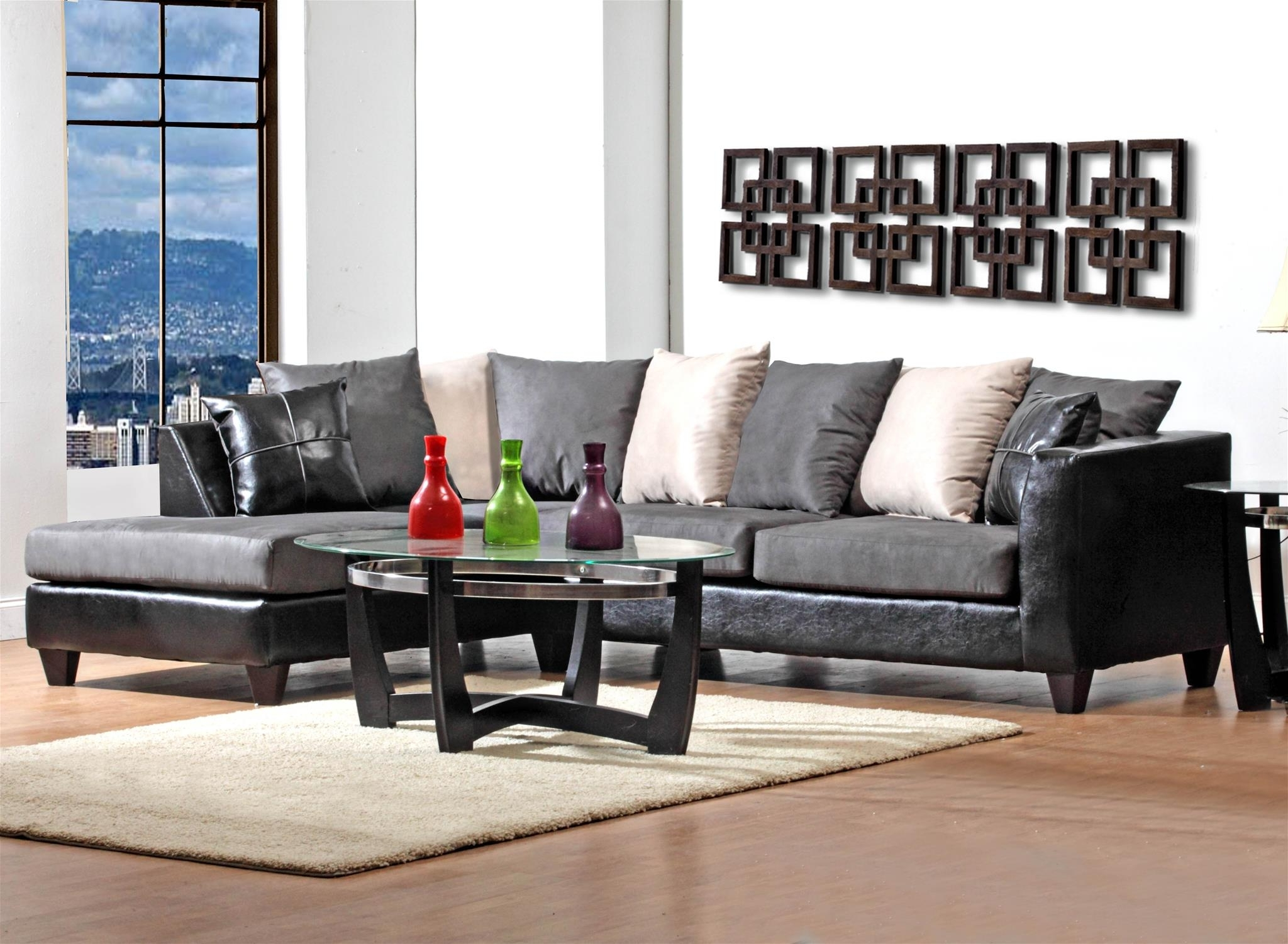 "Preferred Janesville Wi Sectional Sofas In Delta 4184 ""Jefferson Black / Sierra Grey"" Sectional – Crazy Joe's (View 16 of 20)"