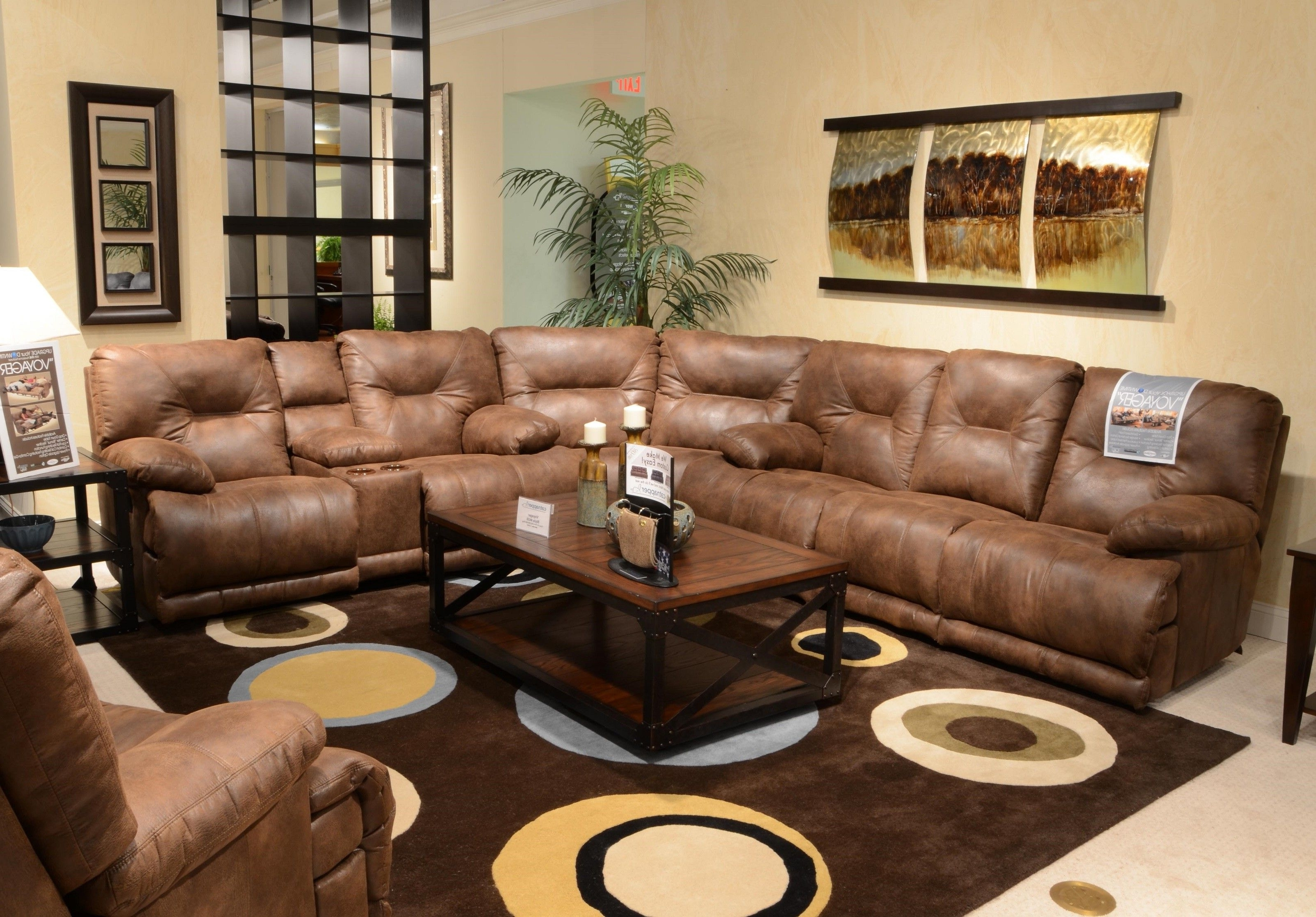 Preferred L Shape Milky Brown Leather Sleeper Sofa With Reclining Combined Intended For Elk Grove Ca Sectional Sofas (View 16 of 20)