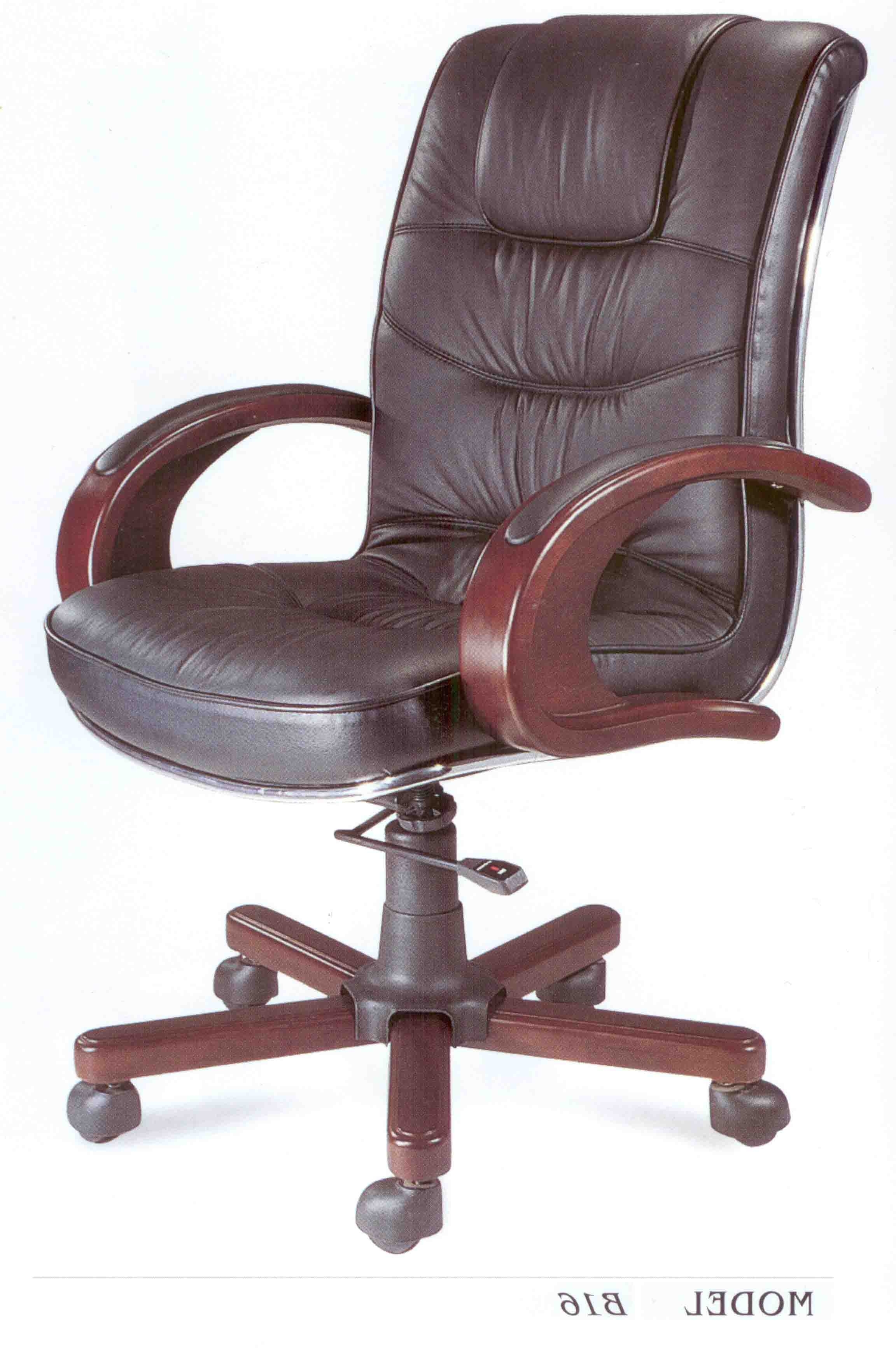 Preferred Lane Executive Office Chairs Regarding Lane Executive Leather Office Chair With Padded Handle & Waterfall (View 4 of 20)