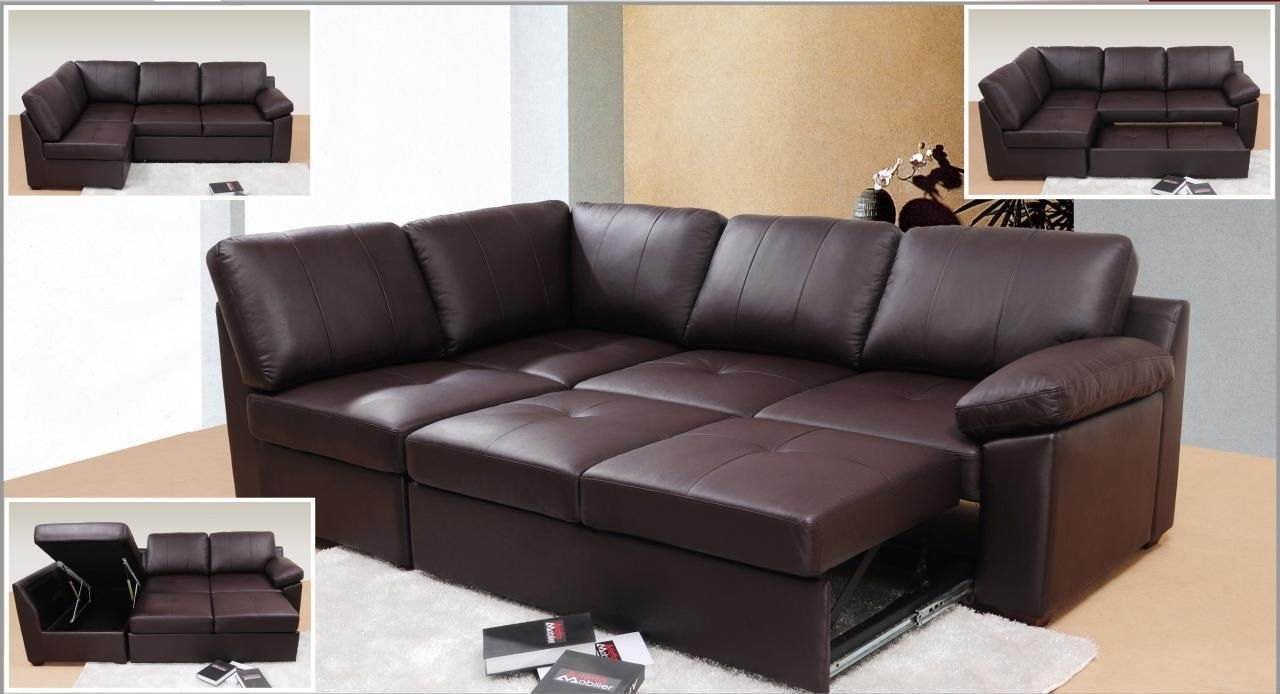 Preferred Leather Sofas With Storage For Genuine Leather Corner Sofa Bed With Storage (View 16 of 20)
