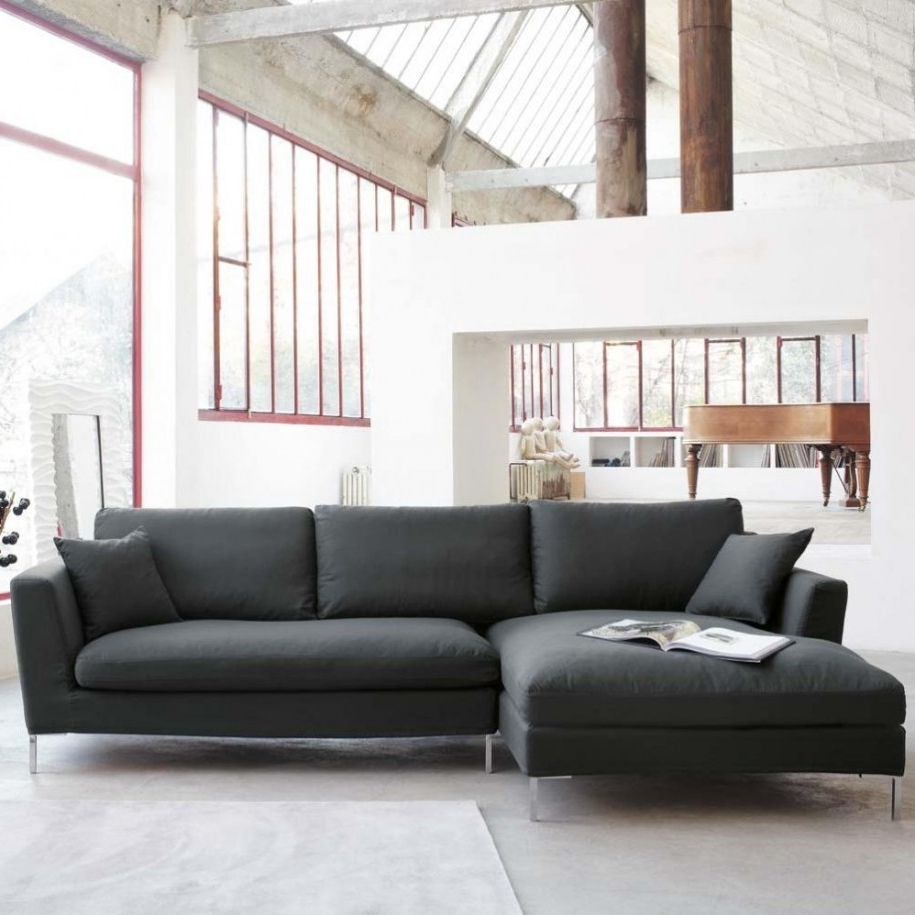 Preferred Light Grey Sectional Sofas With Regard To Fascinating Furniture For Living Room Decoration Using Black And (View 17 of 20)