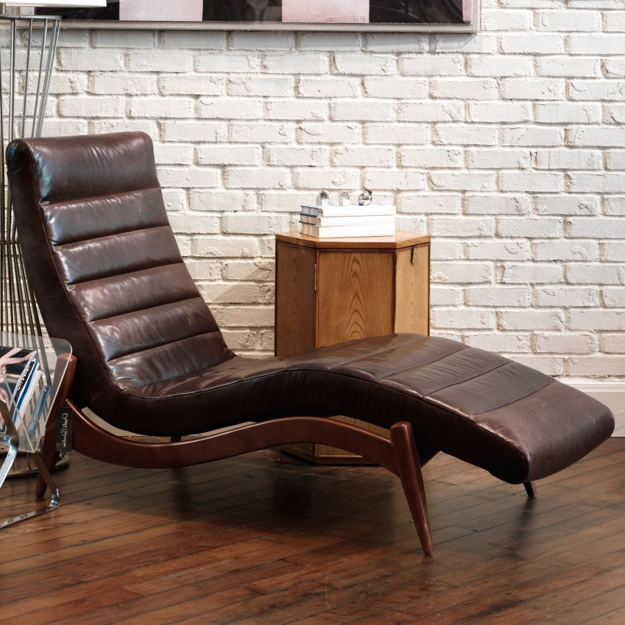 Preferred Lounge Sofas And Chairs Intended For Furniture: Alluring Leather Chaise With Unique Design — Agisee (View 3 of 20)