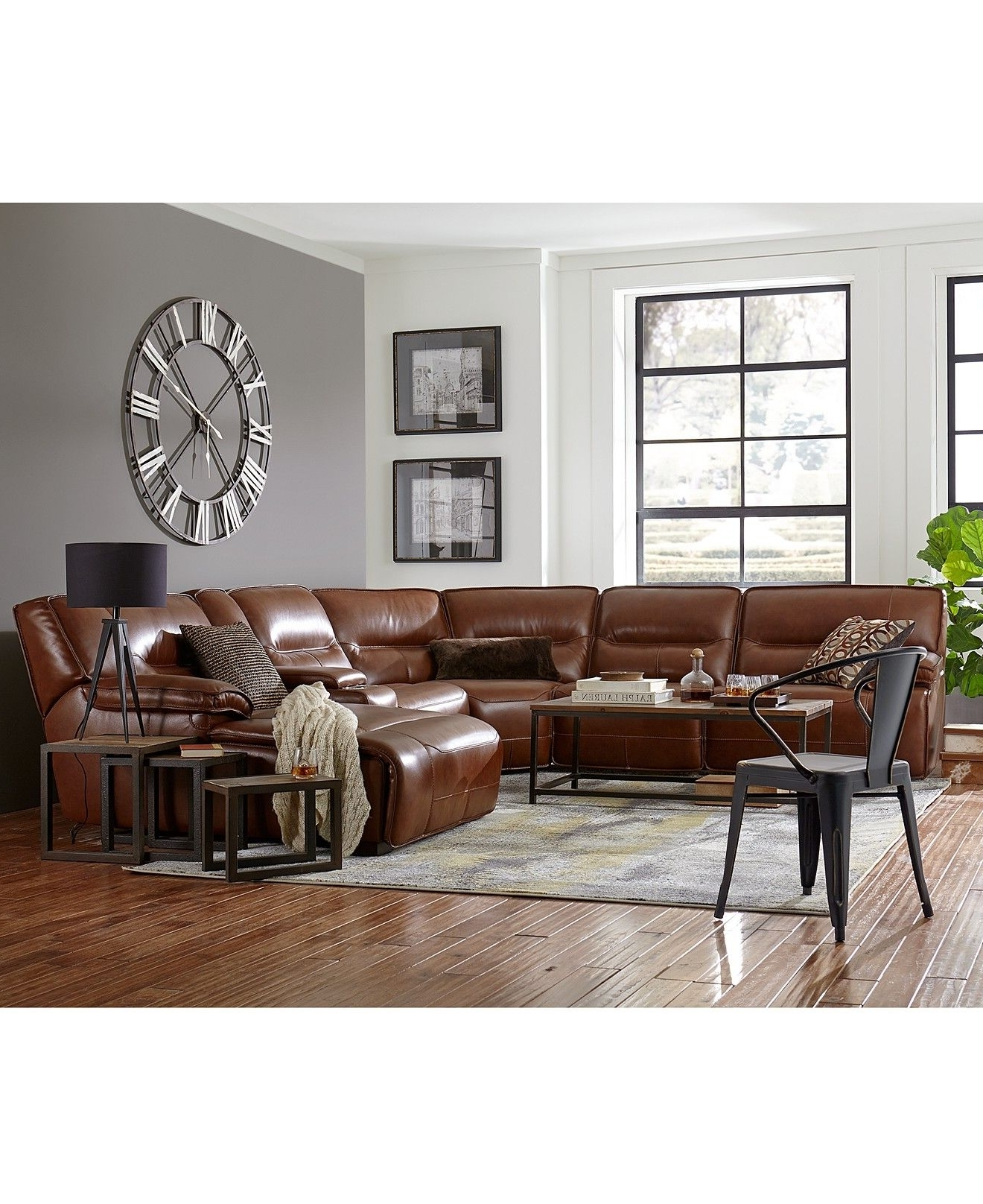 Preferred Macys Leather Sectional Sofas With Regard To Closeout! Beckett Leather Power Reclining Sectional Sofa (View 7 of 20)