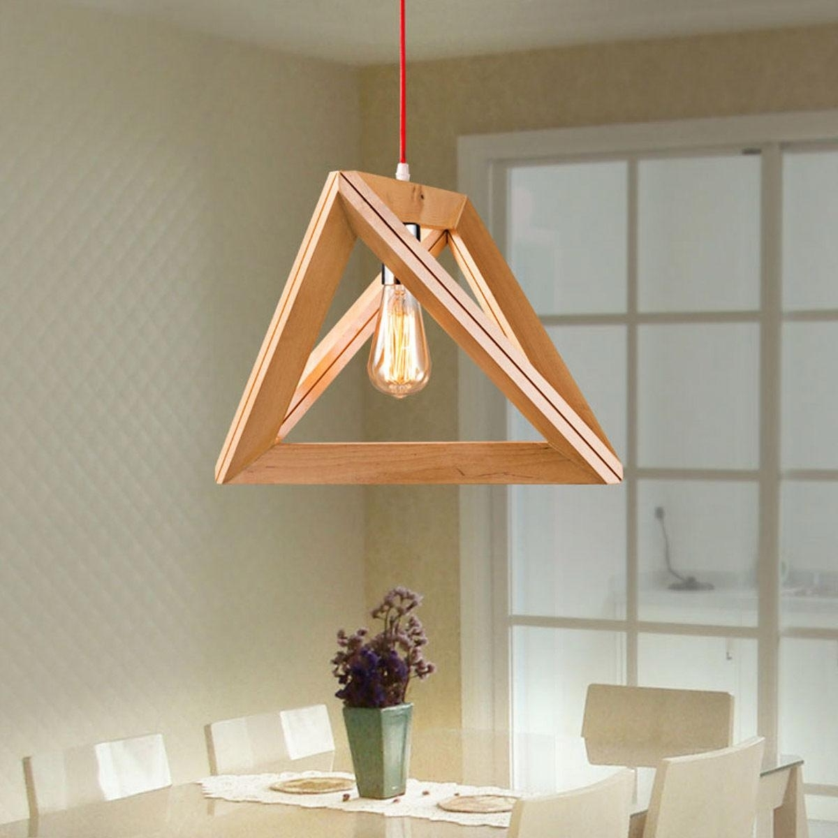 Preferred New Modern Art Wooden Ceiling Light Pendant Lamp Lighting Light Wood Pertaining To Wooden Chandeliers (View 6 of 20)