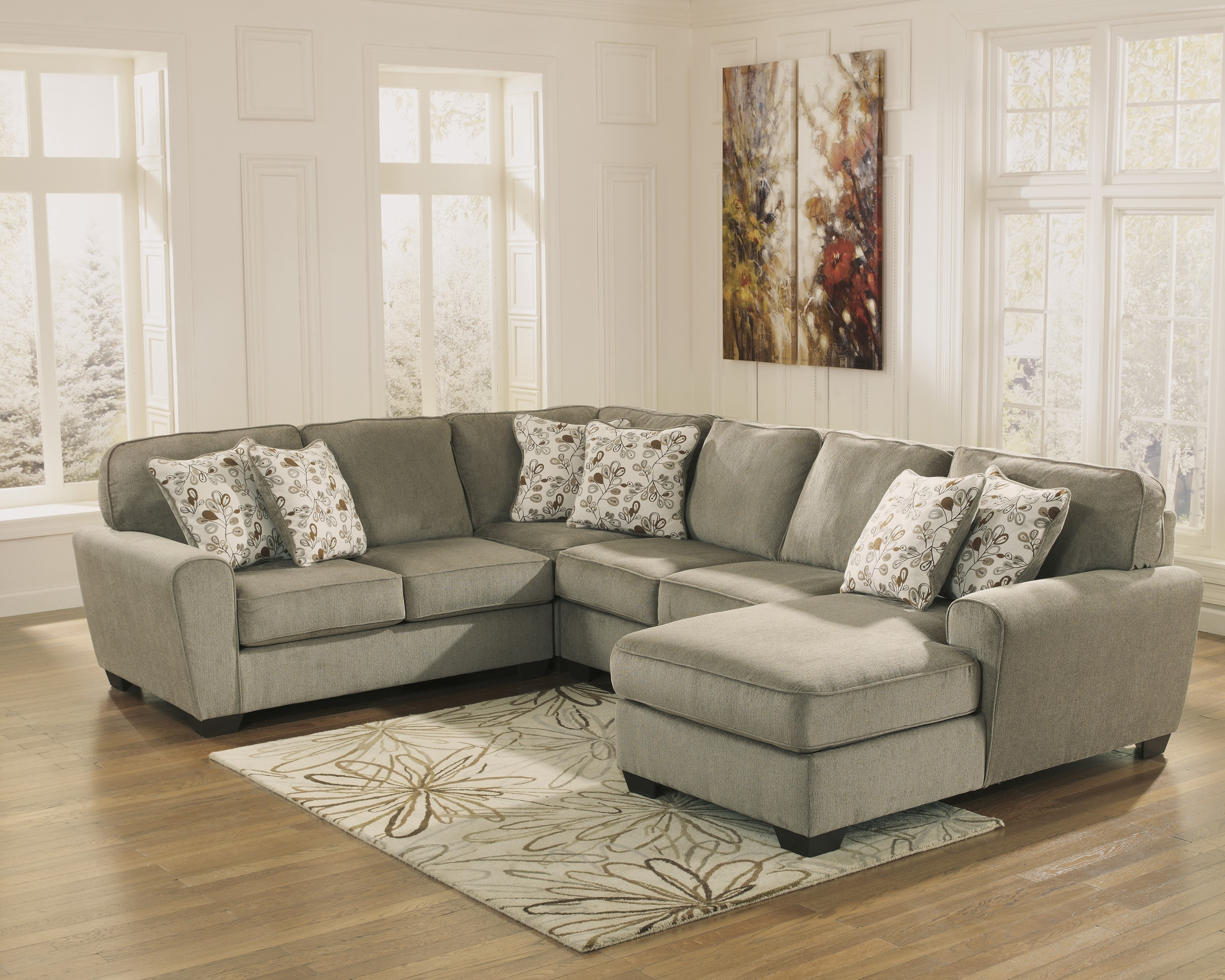 Preferred Patola Park Patina 4 Piece Sectional Set With Left Arm Facing Pertaining To Elk Grove Ca Sectional Sofas (View 17 of 20)
