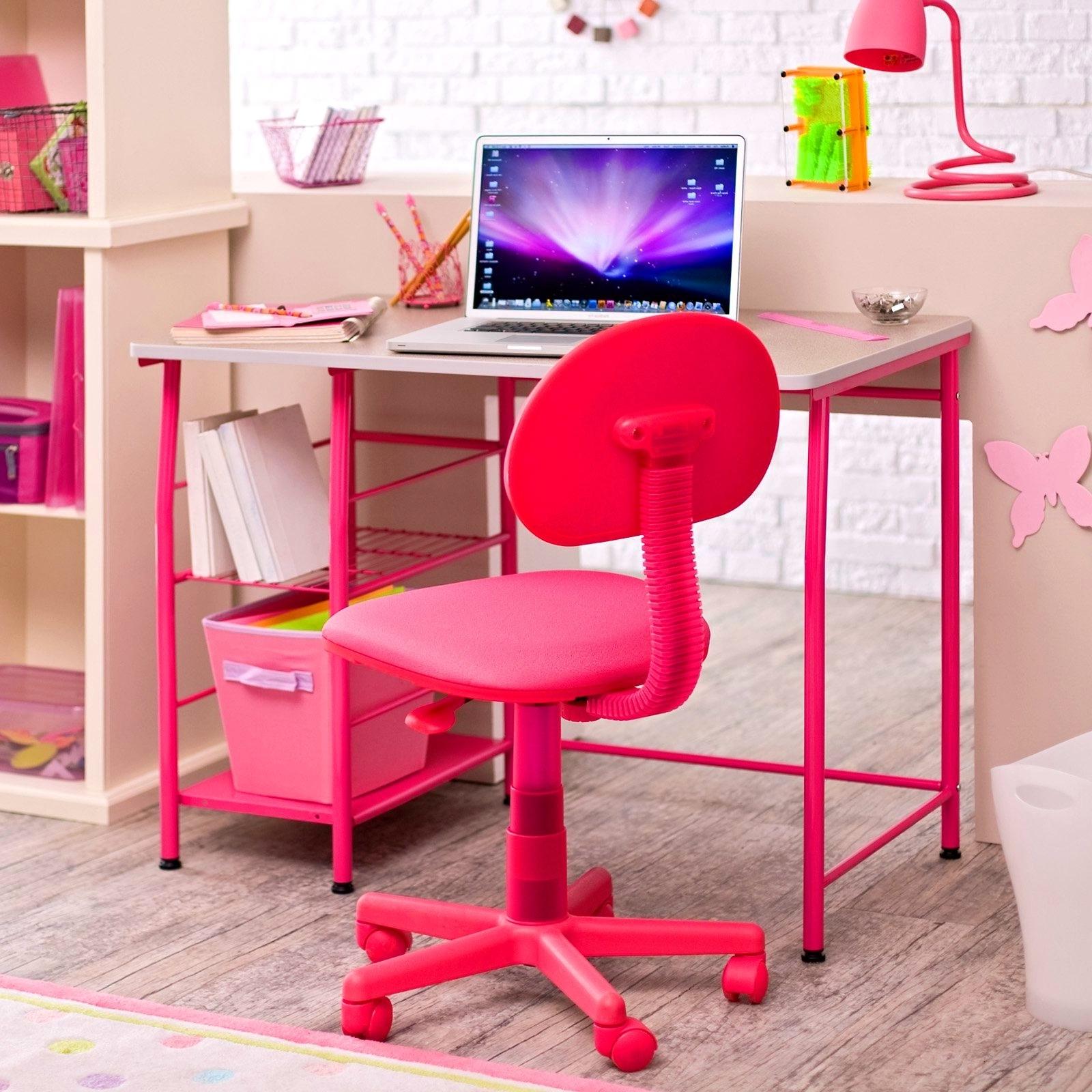Preferred Pink Computer Desks Throughout Top 74 Wicked Pink Childrens Desk Kids Work Girls Chair White Teen (View 15 of 20)