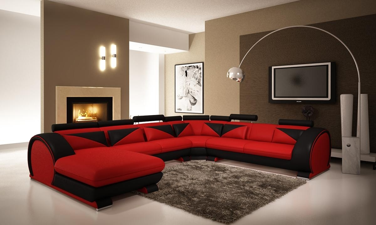 Preferred Red Leather Sectionals With Chaise For Living Room (View 15 of 20)