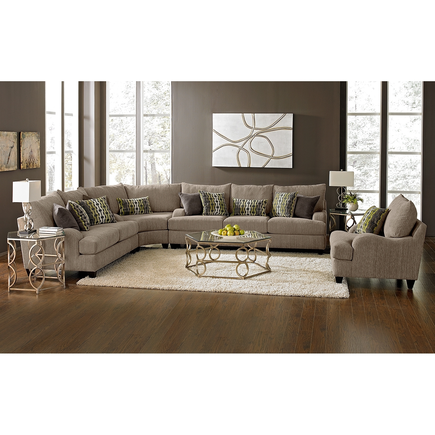 Preferred Santa Monica Ii Upholstery 3 Pc. Sectional – Value City Furniture With Value City Sectional Sofas (Gallery 13 of 20)