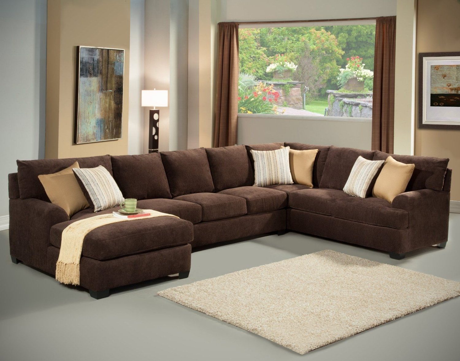 Preferred Sectional Sofas At Amazon Pertaining To Amazon – Furniture Of America Navelis 3 Piece Micro Denier (View 10 of 20)