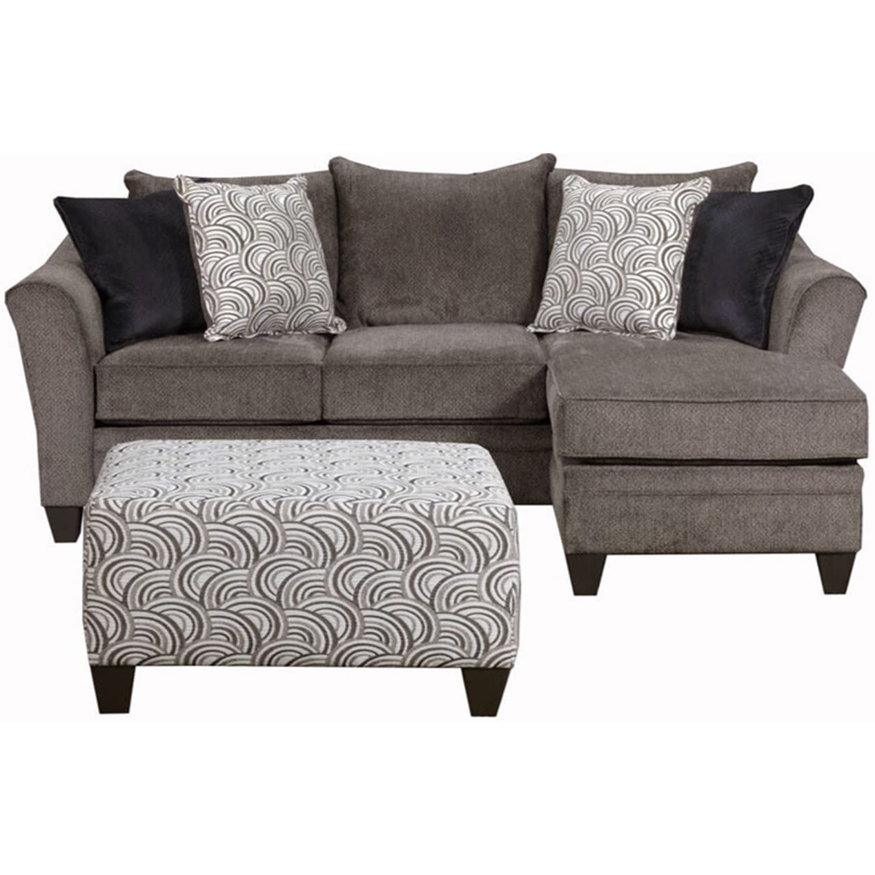 Preferred Simmons Chaise Sofas In Simmons Upholstery Albany Pewter Sofa Chaise – Free Shipping Today (View 8 of 20)
