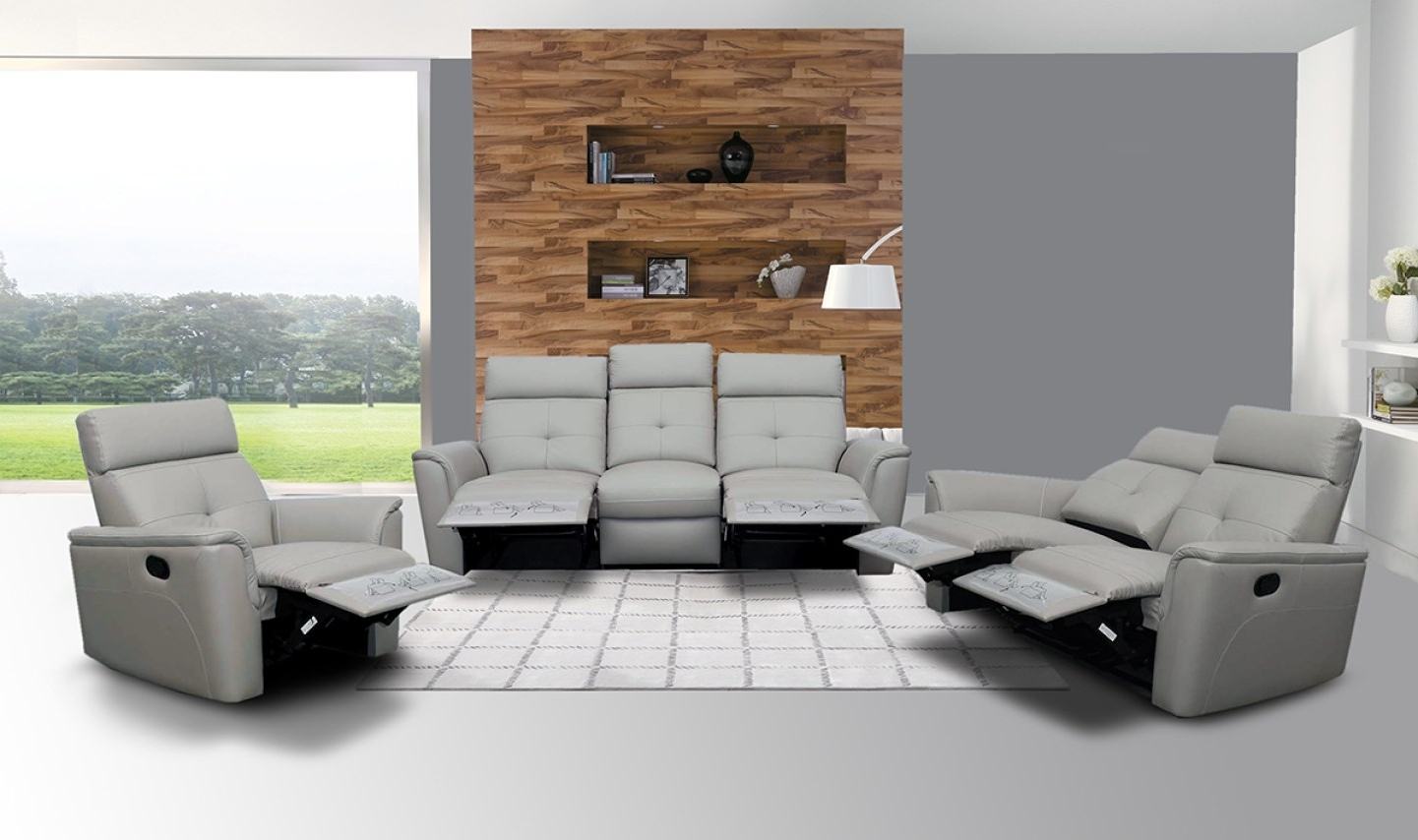 Preferred Sofa : Riveting Modern Leather Reclining Couch Thrilling Throughout Modern Reclining Leather Sofas (Gallery 20 of 20)