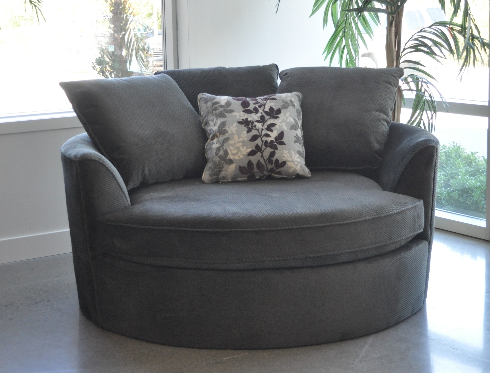 Preferred Sofa : Round Sofa Outdoor Furniture Round Sofa Chair Uk Large Inside Large Sofa Chairs (View 17 of 20)