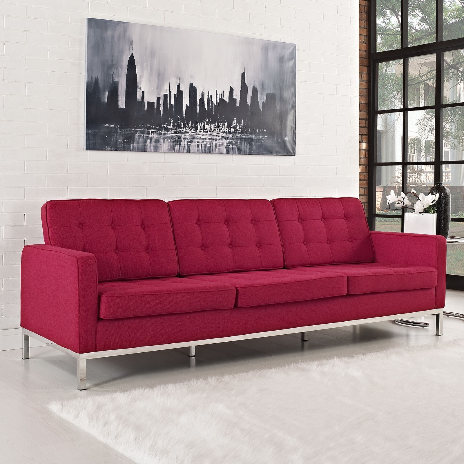 Preferred Sofa : View Florence Knoll Style Sofa Interior Design For Home Inside Florence Knoll Style Sofas (View 5 of 20)